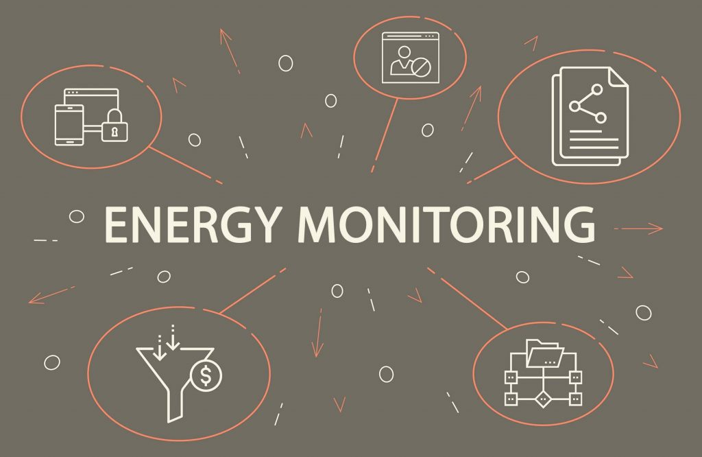 Business illustration showing the concept of energy management s